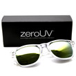 "Zerouv + Plus ""Mormont"" Transparent Horned Rim Flash Revo Lens Sunglasses"