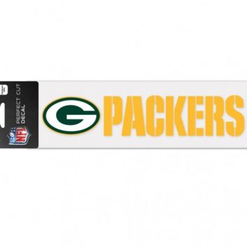 Green Bay Packers 3X10 Perfect Cut Decal By Wincraft
