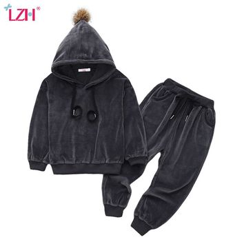 Children Clothing  Autumn Winter Girls Clothes Hoodies+Pants Kids Costume Boys Clothes Sport Suit For Girls Clothing Sets