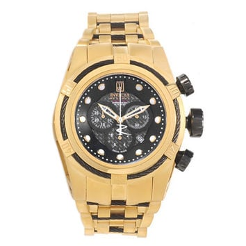 Invicta 14432 Men's Jason Taylor Bolt Zeus Gold Steel Bracelet Chrono Dive Watch