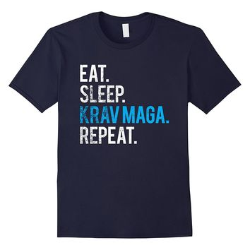 Eat Sleep Krav Maga Repeat T-Shirt Isreali Martial Art