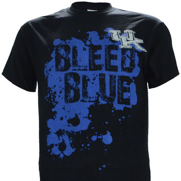 "University of Kentucky: ""UK Bleed Blue"" on Short Sleeve Black"
