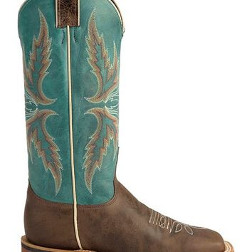 Justin Bent Rail Blue Puma Cowgirl Boots - Square Toe - Sheplers