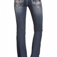 Feathered Cross Boot Cut