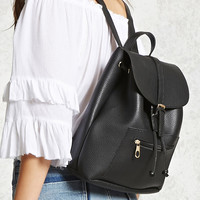 Buckled Drawstring Backpack
