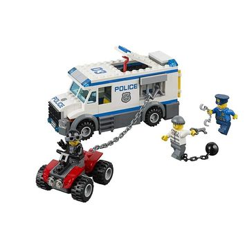 198Pcs Prisoner Transporter Compatible Legoe City Police 60043 Building Blocks toys for Childrens Bricks Model Kid Gift