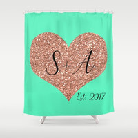 Personalized Shower Curtain Gray Bathroom Decor, Wedding Gifts For Couple, Custom Home Decor, Annivesary Gift For Wife Personalized