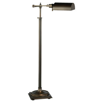 Winston Collection Adjustable Swing Arm Pharmacy Floor Lamp design by Robert Abbey