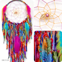 Woodland Wanderlust Large Native Style Woven Dreamcatcher