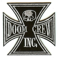Black Label Society Iron-On Patch Doom Crew Iron Cross Logo