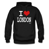 Spreadshirt, i love london by wam, Men's Hooded Sweatshirt, black, M