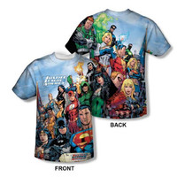 Justice League Of America Sublimation Mens T-Shirt