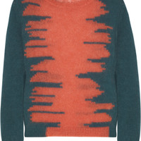 Carven Tiger-intarsia knitted sweater – 65% at THE OUTNET.COM