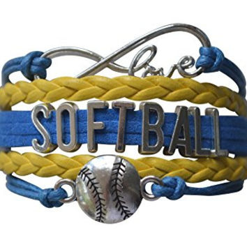 Softball Bracelet- Girls Softball Jewelry