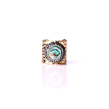 Magnolia Mother of Pearl Open Ring