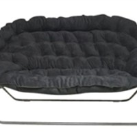 Papasan Dorm Sofa - Black