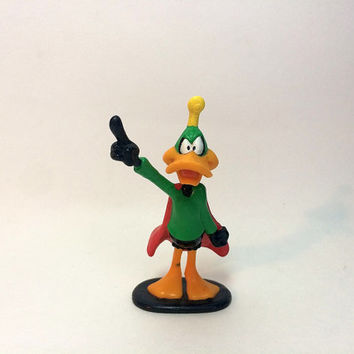 Daffy Duck as Duck Dodgers 1996 Pvc Toy Collectible Figure Figurine by Applause Warner Bros Caketopper Free US Shipping Soaring Hawk Vintage