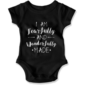 I Am Fearfully and Wonderfully Made - Baby One-Piece