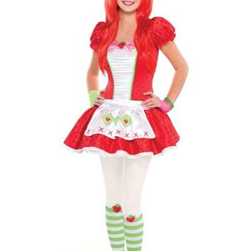 Teen Girls Red Strawberry Shortcake Costume- Party City