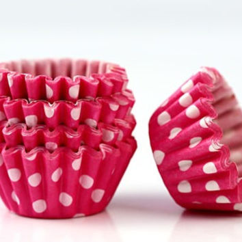 50 pcs Baking Cupcake Liners-(Red Dot )  Cupcake Wrappers ,Muffin Cup*Weddings*Baby Showers*Bridal Shower*Birthday*