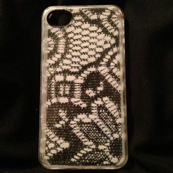 Hand Painted Lace Phone Case