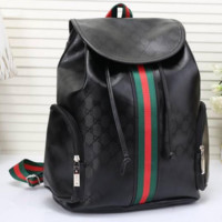 Gucci Women Leather Bookbag Shoulder Bag Handbag Backpack