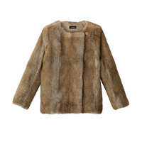 Fur jacket - Beige  - A.P.C. WOMEN