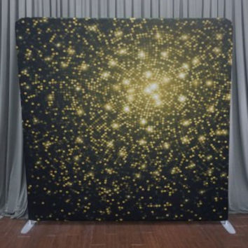 """8 x 8 Straight Tension Fabric Printed Backdrop – """"Gold Dust"""" – Pattern"""
