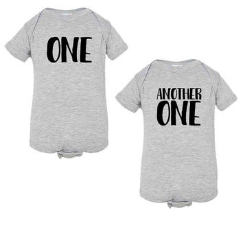 DJ Khaled-Inspired One and Another One Onesuits for Twins - Infant Romper - NB 6m 12m 18m 24m