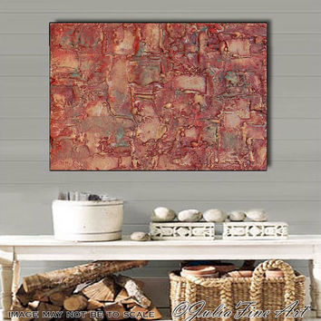 Original Art, Abstract Sculpture Painting, Mixed Media Canvas, Brown, Copper, Large Art, Contemporary, Modern Wall Decor, Julia Apostolova