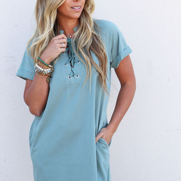 Island Hopping Dress {Caribbean Teal}
