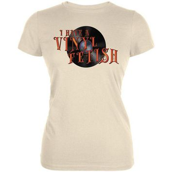 ONETOW I Have A Vinyl Record Fetish Funny Juniors Soft T Shirt