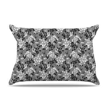 "Holly Helgeson ""Dandy"" Grey Floral Pillow Case"