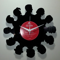 Dr Who (12 Doctors) Vinyl Record Clock