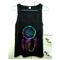 Bring Me The Horizon Dream Catcher Galaxy design for Tank Top Mens and Tank Top Girls