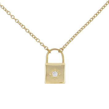 Lock Necklace-Starburst
