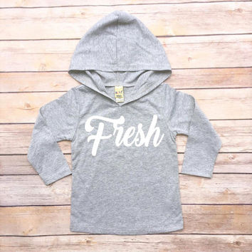 Fresh - Baby Hoodie, Trendy Baby Hoodie, Trendy Toddler Hoodie, Toddler Hoodie, Toddler Long Sleeve, Trendy Infant Clothes, Hipster Baby