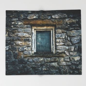 Who's That Peepin' In The Window? Throw Blanket by Mixed Imagery