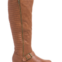 Quilt Master Faux Leather Boots