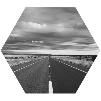 Open Roads Hex Wall Decal