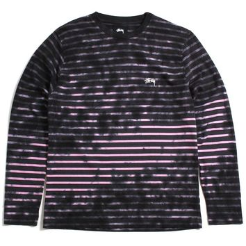 Bleach Stripe Longsleeve Crew Charcoal