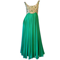Maggi 'Jeweled' Chiffon Gown