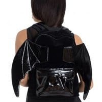 Jawbreaker Clothing Bat PU Gothic Backpack | Attitude Clothing