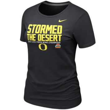 Nike Oregon Ducks Ladies 2013 Fiesta Bowl Champions Celebration Stormed T-Shirt - Black - http://www.shareasale.com/m-pr.cfm?merchantID=7124&userID=1042934&productID=528463893 / Fiesta Bowl Gear