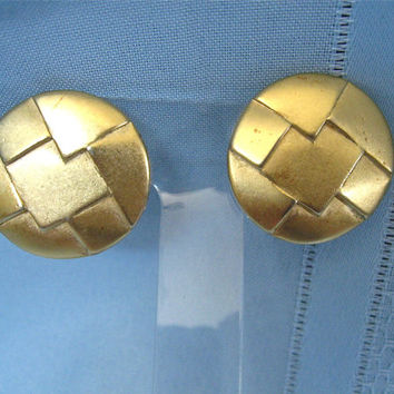 Vintage Round Gold Erwin Pearl Earrings