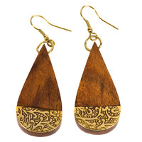 Earth & Fire Drop Earrings - India