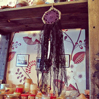 Bohemian Dreamcatcher - My Darkest Side -  Small Gothic Dream Catcher - Boho Wall Hanging Dream Catcher - Bedroom Decor