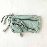 Free People Distressed Double Zip Wallet