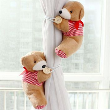 1Pair Bear Winne Window Curtain Tieback Buckle Clamp Hook Fastener BN quality first