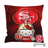 49ers Hello Kitty Cushion Case / Pillow Case